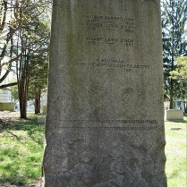 """This is the reverse side of the Coon Family Monument. The quote along the bottom reads: """"The shall the dust return to the earth as it was and the spirit shall return unto the God who gave it."""""""